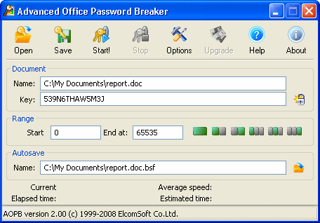 Advanced Office Password Breaker Screenshot