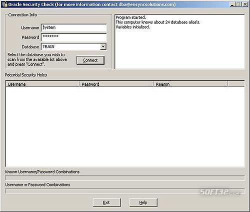 Oracle Security Check Screenshot 2