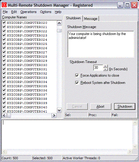 Multi-Remote Shutdown Manager Screenshot