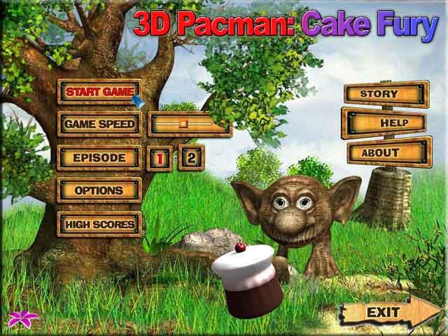 3D Pacman: Cake Fury Screenshot