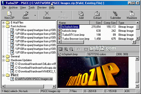 FileStream TurboZIP Screenshot 2