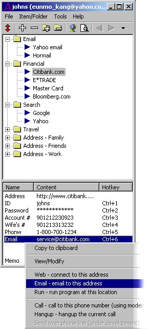 Aha Password and Info Manager Screenshot