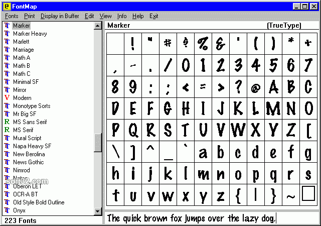 FontMap Screenshot 3