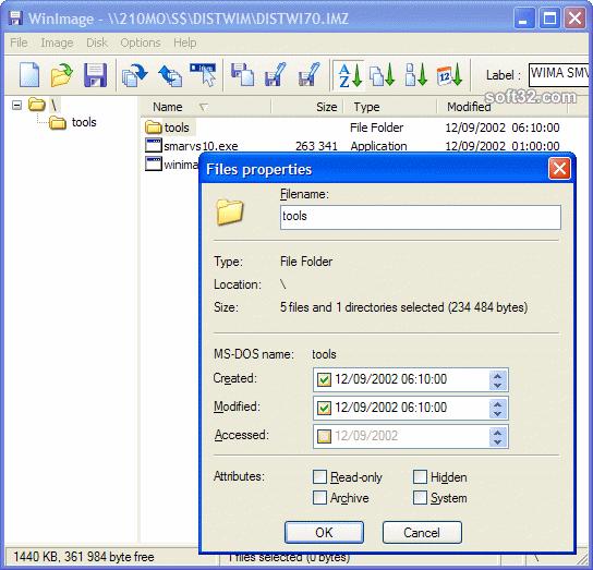 WinImage Screenshot 2