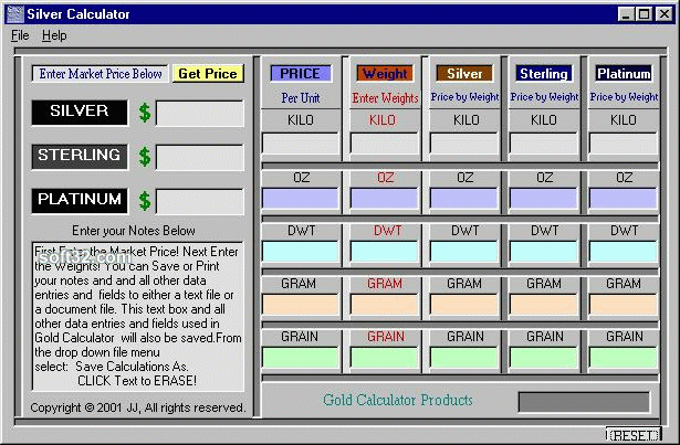 Silver Calculator Screenshot 3