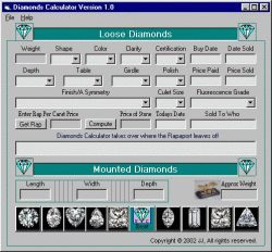 Diamond Calculator Screenshot