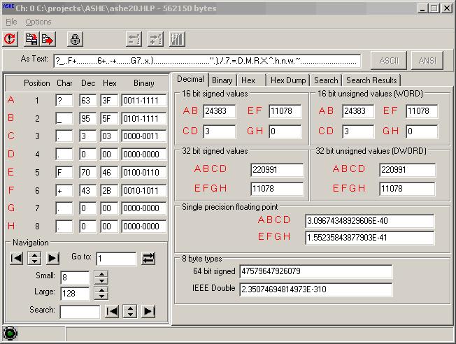 ASHE - A Scripted Hex Editor Screenshot 1