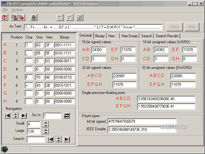 ASHE - A Scripted Hex Editor Screenshot 3