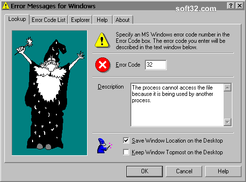 Error Messages for Windows Screenshot 3