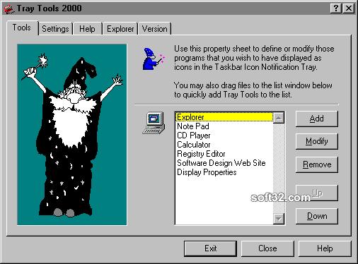 Tray Tools 2000 Screenshot 3