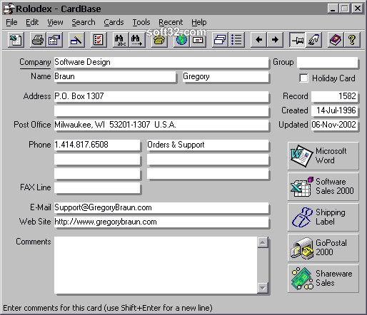 CardBase 2000 Screenshot 3