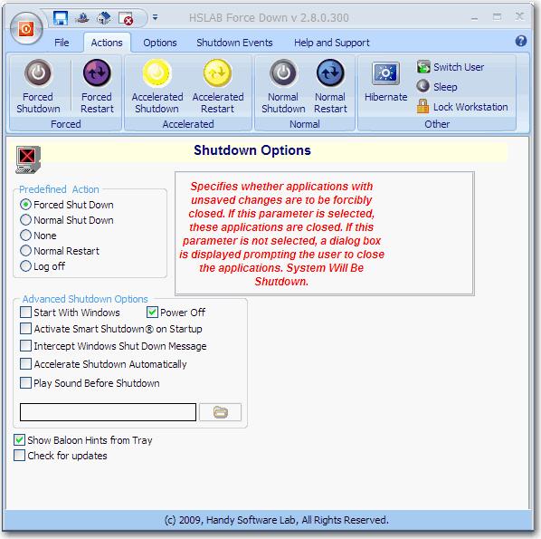 HSLAB Force Down Screenshot