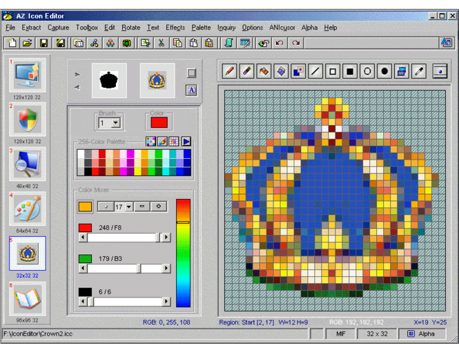 AZ Icon Editor Screenshot