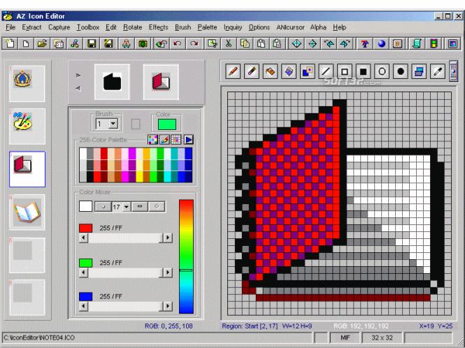 AZ Icon Editor Screenshot 3