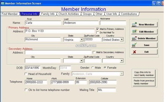Church Office Helper Screenshot 2