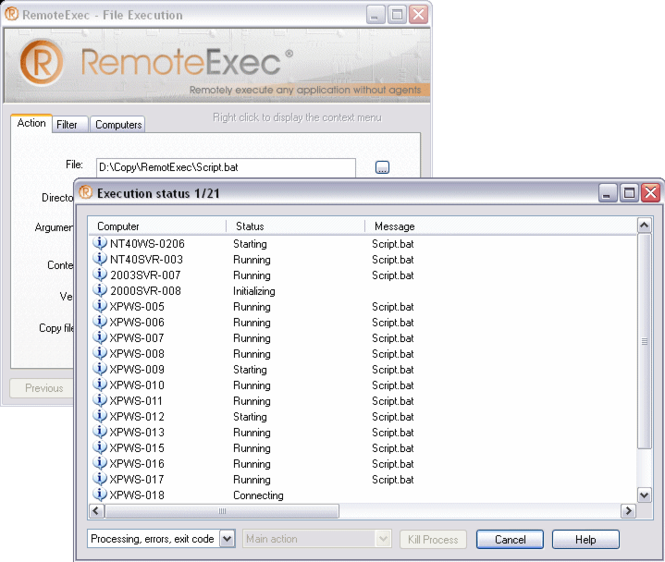 RemoteExec Screenshot