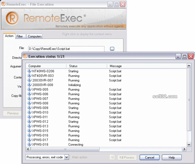 RemoteExec Screenshot 3