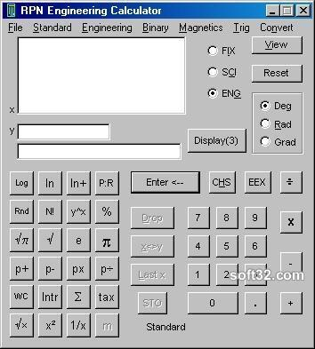 RPN Engineering Calculator Screenshot 2