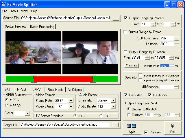 Fx Splitter and Trimmer Screenshot