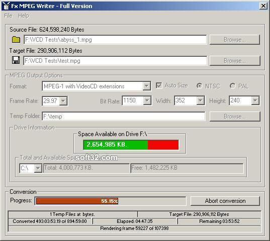 Fx MPEG Writer Screenshot 3
