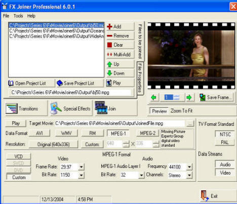 Fx Movie Joiner Screenshot