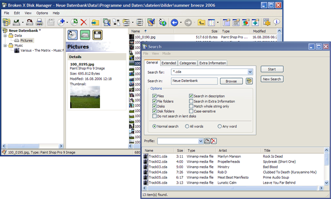 Broken X Disk Manager Screenshot 1