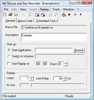 Mouse and Key Recorder Screenshot