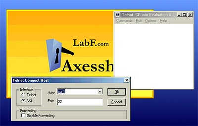 Axessh Windows SSH Client and SSH Server Screenshot