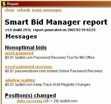 Smart Bid Manager Screenshot