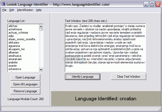 Language Identifier Screenshot 4