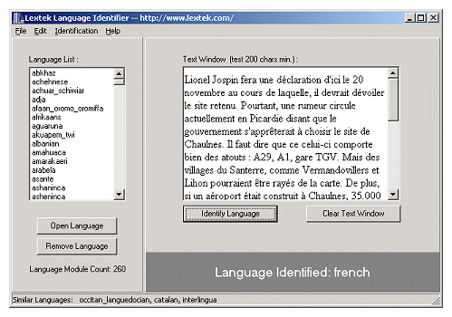 Language Identifier Screenshot 1