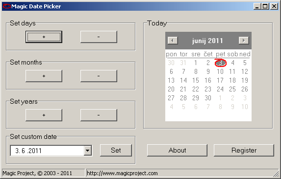Magic Date Picker Screenshot