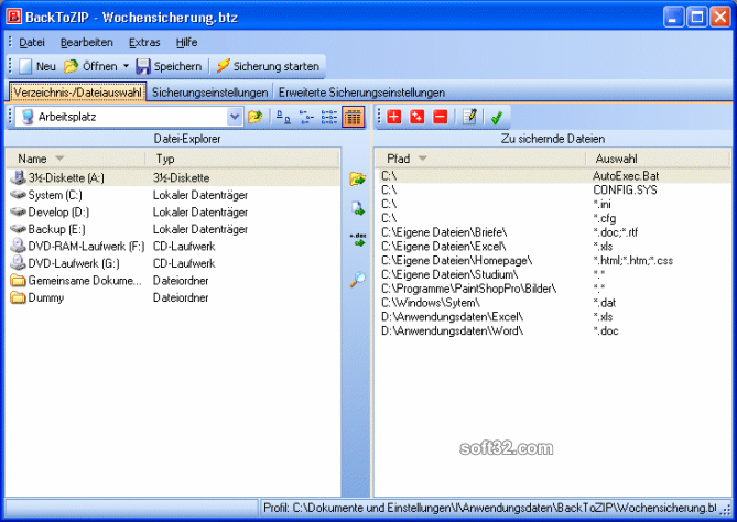 BackToZIP Screenshot 2
