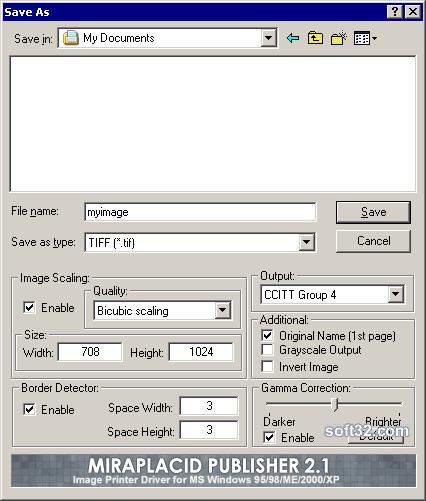 Miraplacid Printer Driver 2000/XP Screenshot 2