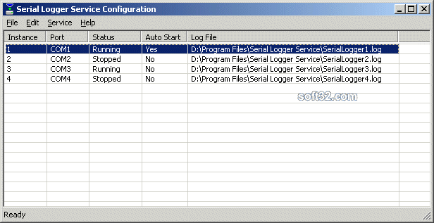 Serial Logger Service Screenshot 3