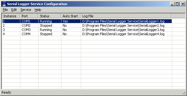 Serial Logger Service Screenshot 1