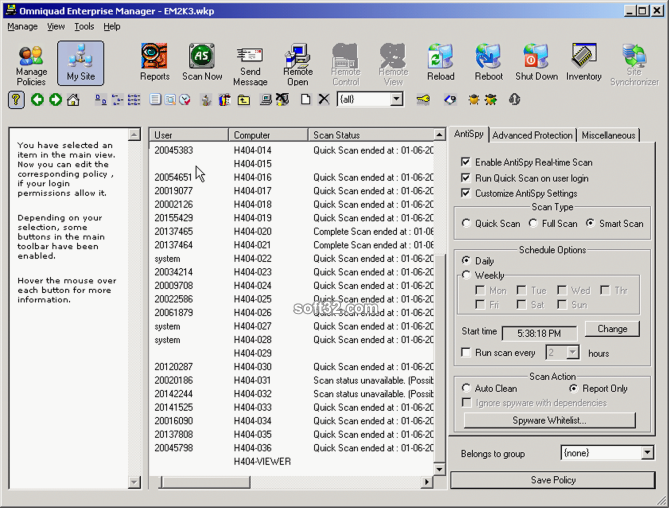 Omniquad Surfwall - Enterprise Manager Screenshot 3