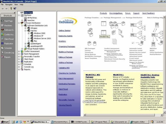 WinINSTALL Desktop Availability Suite Screenshot