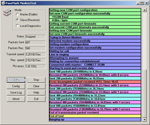 ModemTest Screenshot 3