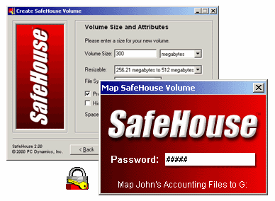 SafeHouse Hard Drive Encryption Screenshot 1