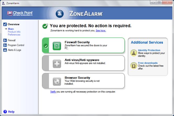 ZoneAlarm Free Screenshot