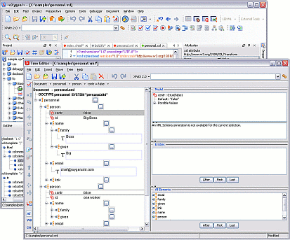 oXygen XML Editor Screenshot 1