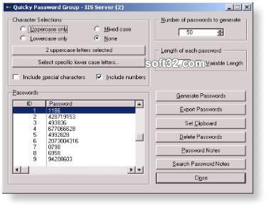 Quicky Password Generator - Shareware Screenshot 2