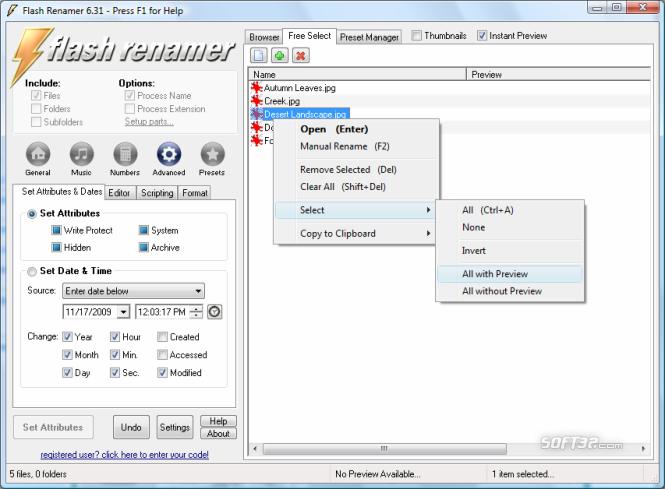 Flash Renamer Screenshot 5