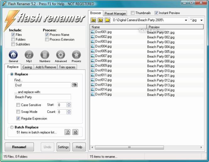 Flash Renamer Screenshot 6