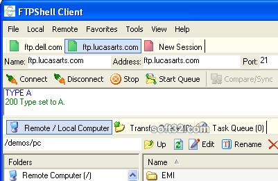 FTPShell Client Screenshot 2