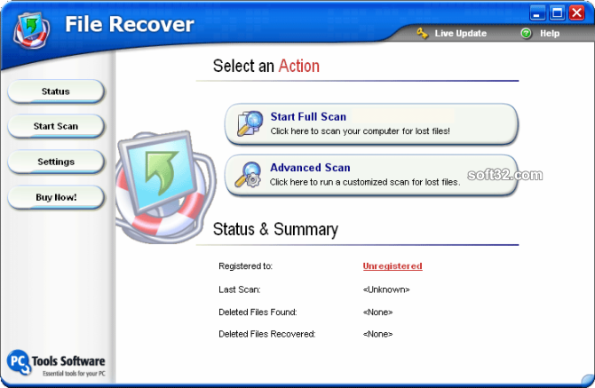 File Recover Screenshot 1