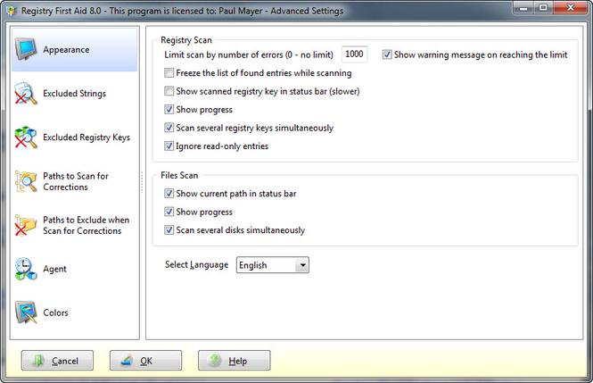 Registry First Aid Screenshot 2