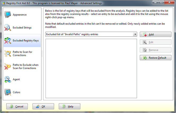 Registry First Aid Screenshot 3