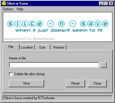 Slice-n-Save Screenshot